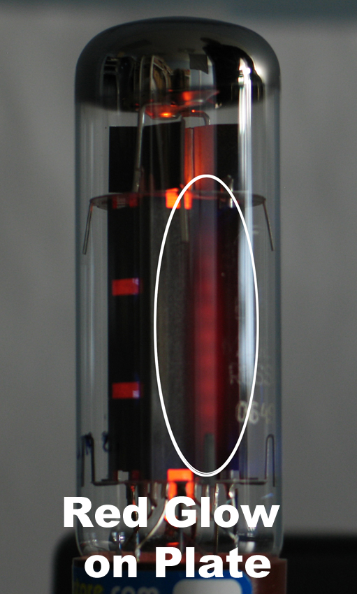 Filament Glow And Red Plating In Vacuum Tubes