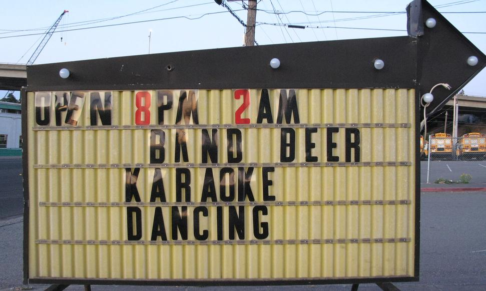 bar sign/ packing tips for traveling musicians